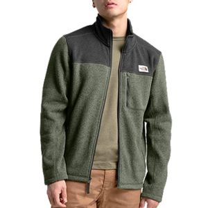 The North Face Men's Gordon Lyons Full Zip Jacket - New Taupe Green Heather/Dark Grey Heather