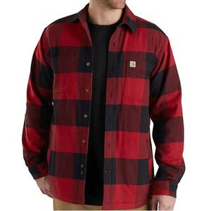 Carhartt Men's Rugged Flex Hamilton Lined Shirt - Dark Crimson