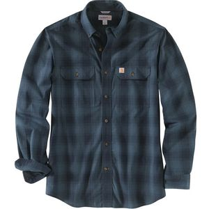 Carhartt Men's Fort Plaid Long Sleeve Shirt - Navy