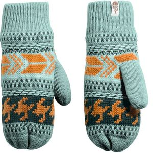 The North Face Women's Fair Isle Mitts - Trellis Green/Ponderosa Green Multi