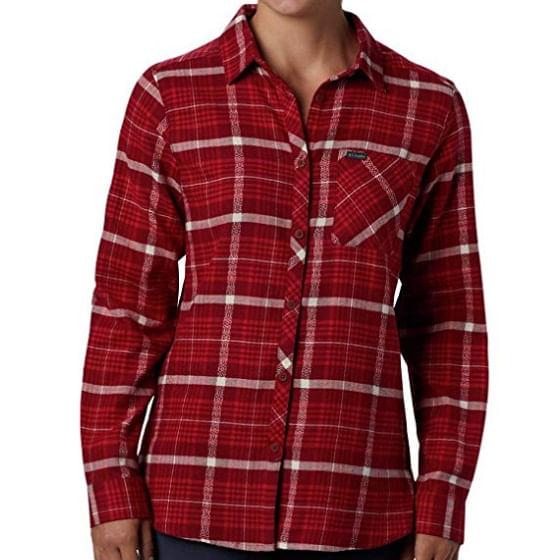 Columbia-Women-s-Simply-Put-II-Flannel-Shirt---Beet-236765