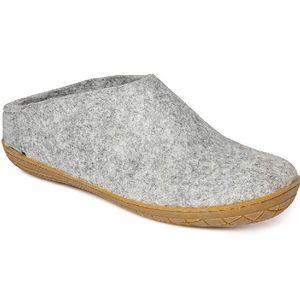 Glerups Unisex Slipper with Rubber Sole - Grey
