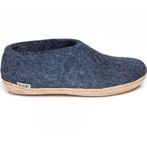 Glerups Unisex Shoe with Leather Sole - Denim