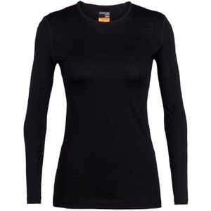 Icebreaker Women's 200 Oasis Long Sleeve Crewe - Black