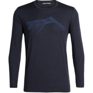 Icebreaker Men's Tech Lite Long Sleeve Crewe Shear - Midnight Navy