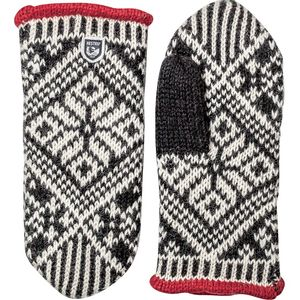 Hestra Women's Nordic Wool Mitt - Black/Off White