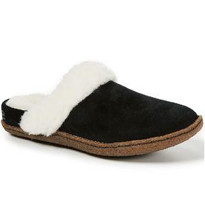 Sorel Women's Nakiska Slide II Slippers - Black/Natural