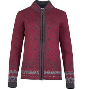 Dale of Norway Women's Solfrid Jacket - Burgandy/Grey