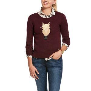 Ariat Women's Trigger Intarsia Sweater - Grape Wine