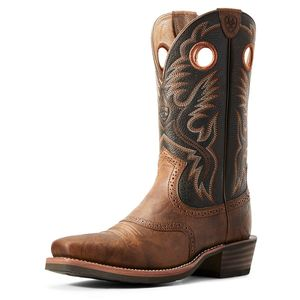 Ariat Men's Heritage Roughstock Western Boot - Sorrel Crunch