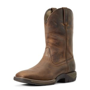 Ariat Ranch Work Western Boots - Distressed Brown