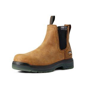 Ariat Men's Turbo Chelsea CSA Waterproof Carbon Toe Work Boot - Aged Bark