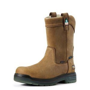 Ariat Men's Turbo Pull-On CSA Waterproof Carbon Toe Work Boot - Aged Bark