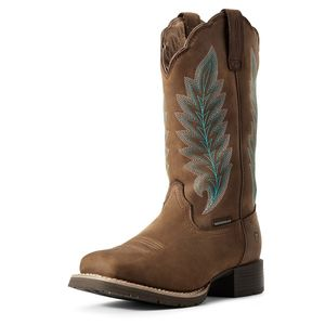 Ariat Women's Hybrid Rancher Waterproof Insulated Western Boot - Oily Distressed Tan