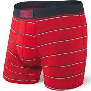 Saxx Men's Vibe Boxer Briefs - Red Shallow Stripe