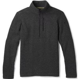 Smartwool Men's Hudson Trail Fleece Half Zip Sweater - Dark Charcoal