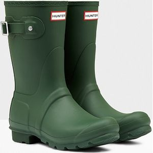 Hunter Short Matte Boots - Hunter Green