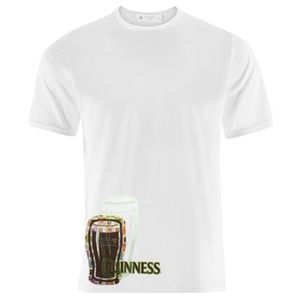 Guinness Green Stitched Cup T-Shirt - White