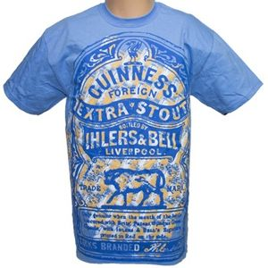 Guinness Men's Ihlers and Bell T-Shirt - Blue