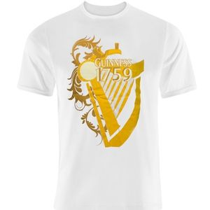 Guinness Yellow Harp T-Shirt - White