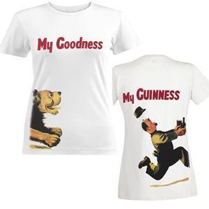Guinness Women's  Chasing Lion T-Shirt - White