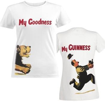 Guinness-Women-s--Chasing-Lion-T-Shirt---White-186828