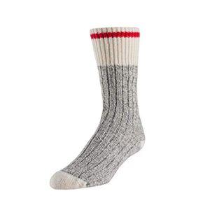 Duray Boreal Kids Socks - Grey Red Stripe
