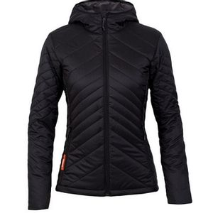 Icebreaker Women's MeriLoft Stratus Long Sleeve Zip Hooded Jacket - Black/Monsoon