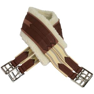 Kincade Equalizing Fleece Girth - Beige/Brown