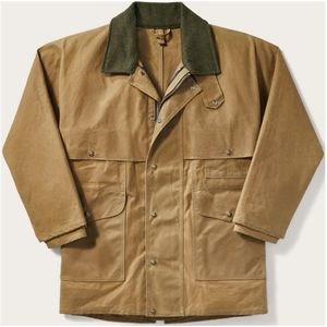 Filson Men's Tin Cloth Packer Coat - Dark Tan