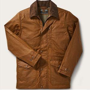 Filson Men's Cover Cloth Mile Marker Coat - Dark Earth
