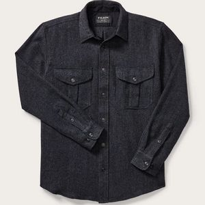 Filson Men's Northwest Wool Shirt - Charcoal