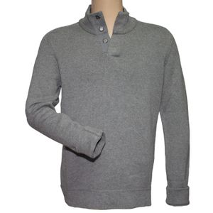 Toad & Co Men's Lowkey ¼ Snap Sweater - Heather Grey
