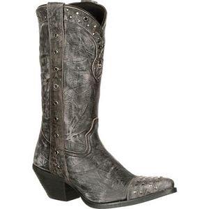 Durango Women's Punk Studded Western Boots - Charcoal