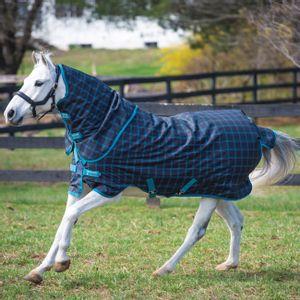 Amigo Pony Plus 50g Turnout - Black Check/Teal/Silver