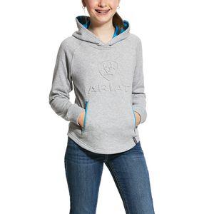 Ariat Girls 3D Logo Hoodie - Heather Grey