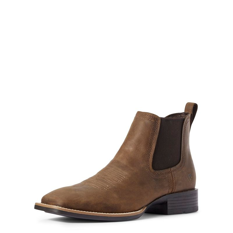 Ariat Men's Booker Ultra Western Boot - Distressed Tan |  www.applesaddlery.com | Equestrian and Outdoor Superstore - Apple Saddlery