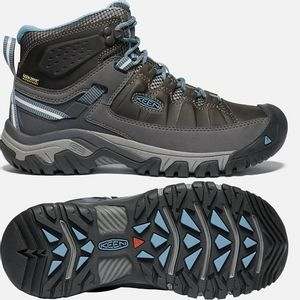Keen Women's Targhee III Mid Waterproof Hiking Boots - Magnet/Atlantic Blue