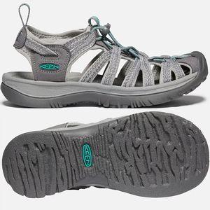 Keen Women's Whisper Sandals - Medium Grey/Peacock Green