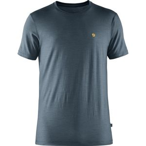 Fjallraven Men's Bergtagen Thinwool Short Sleeve T-Shirt - Mounain Blue