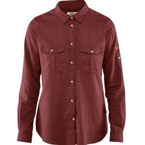 Fjallraven Women's Ovik Travel Long Sleeve Shirt - Raspberry Red