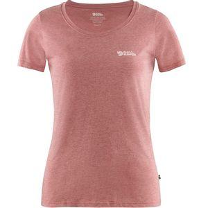 Fjallraven Women's  Logo T-Shirt - Raspberry Red - Melange
