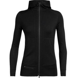 Icebreaker Women's Quantum II Long Sleeve Zip Hoodie - Black