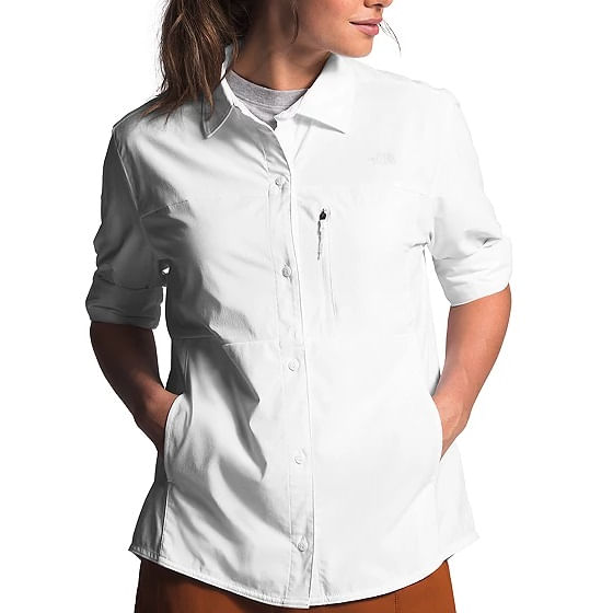 The-North-Face-Women-s-Outdoor-Trail-Long-Sleeve-Shirt---White-242695