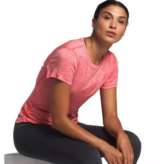 The-North-Face-Women-s-HyperLayer-FD-Short-Sleeve-T-Shirt---Cayenne-Red-242701