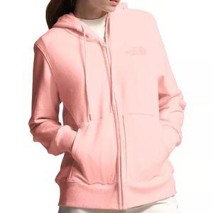 The North Face Women's Lightweight Tri-Blend Full Zip Hoodie - Impatiens Pink Heather