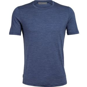Icebreaker Men's Cool-Lite Sphere Short Sleeve Crewe - Blue Heather