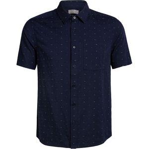 Icebreaker Men's Compass Short Sleeve Shirt - Midnight Navy