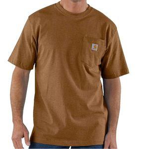 Carhartt Men's Workwear Pocket Short Sleeve T-Shirt - Oiled Walnut