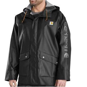 Carhartt Men's Waterproof Rain Storm Jacke - Black